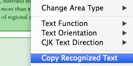 The Most Accurate Text Recognition and Layout Retention Available for Mac OS X