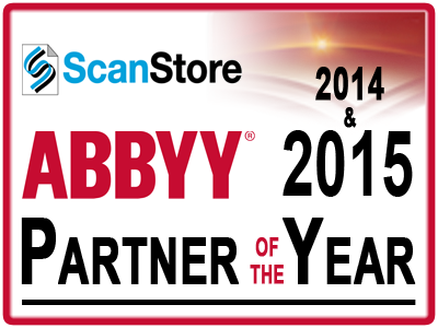 ScanStore is ABBYY 2014 Partner of the Year!